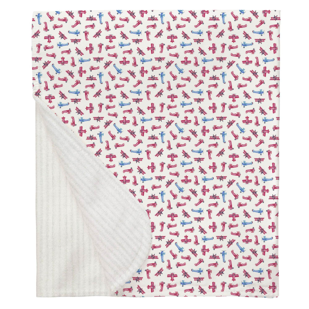 Product image for Tiny Airplanes Baby Blanket