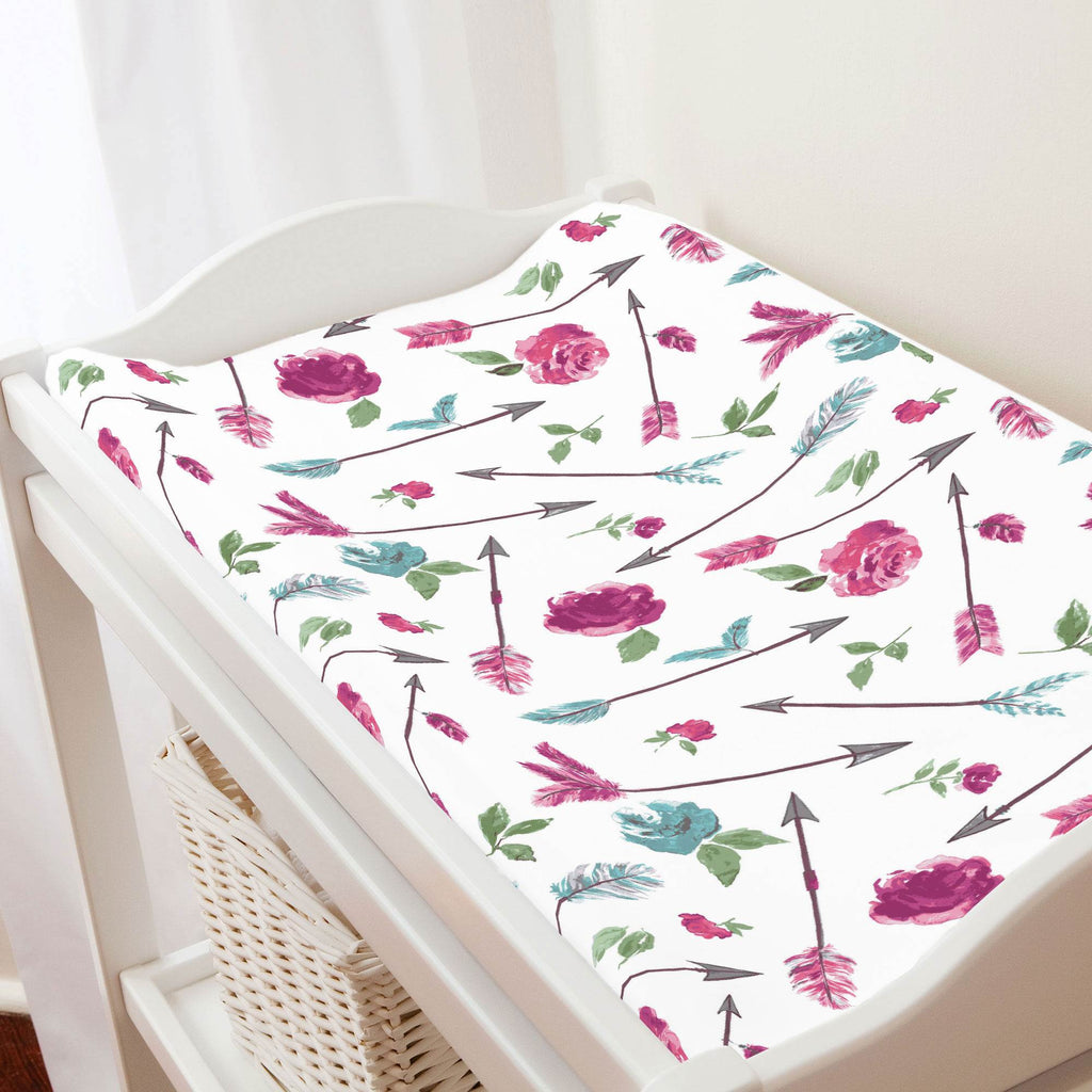 Product image for Floral Arrow Changing Pad Cover