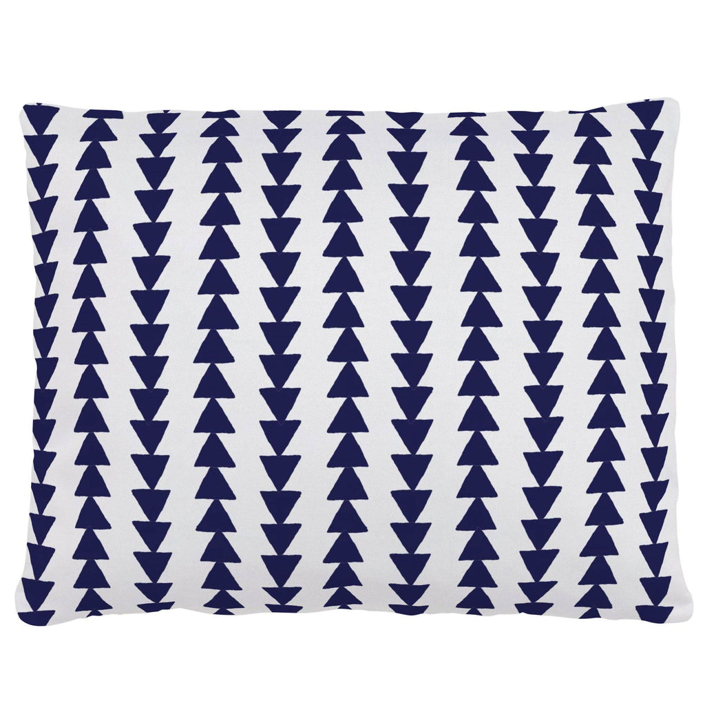 Product image for Windsor Navy Arrow Stripe Accent Pillow