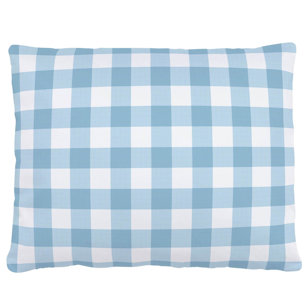 Product image for Lake Blue Gingham Accent Pillow