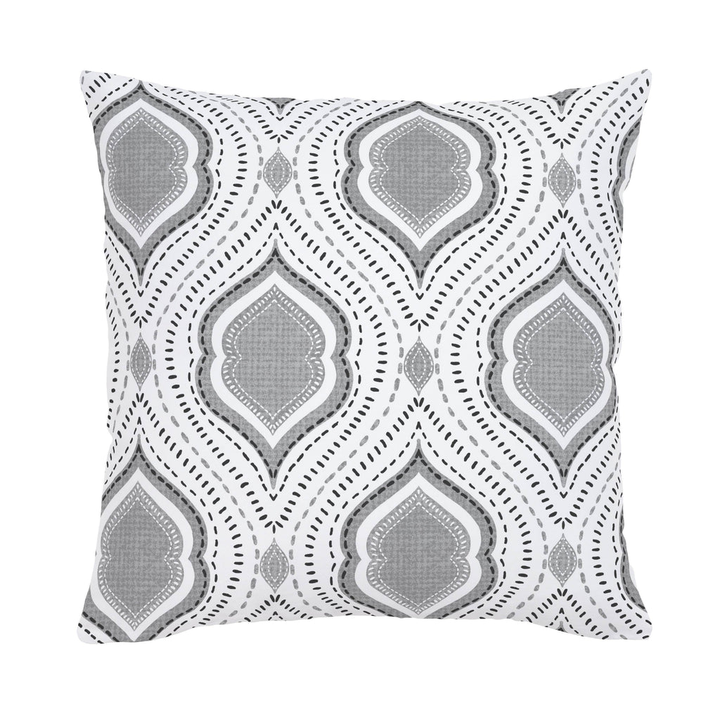 Product image for Gray Moroccan Damask Throw Pillow