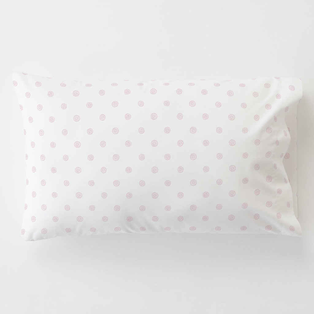 Product image for Pink Ditsy Dot Toddler Pillow Case with Pillow Insert