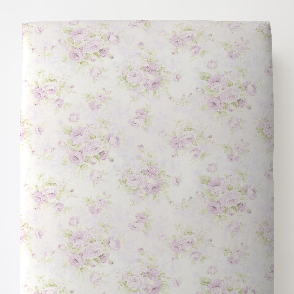Product image for Lavender Floral Toddler Sheet Bottom Fitted