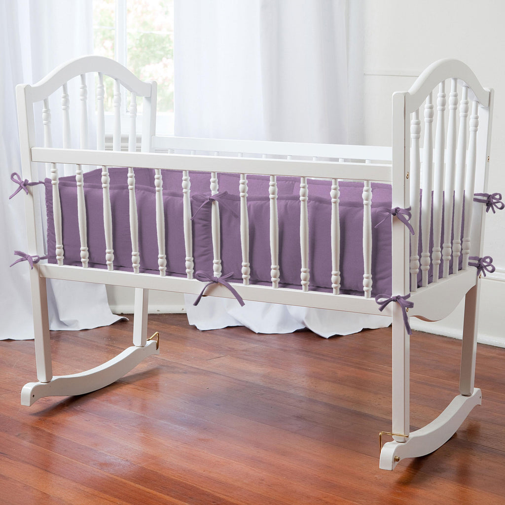 Product image for Solid Aubergine Purple Cradle Bumper
