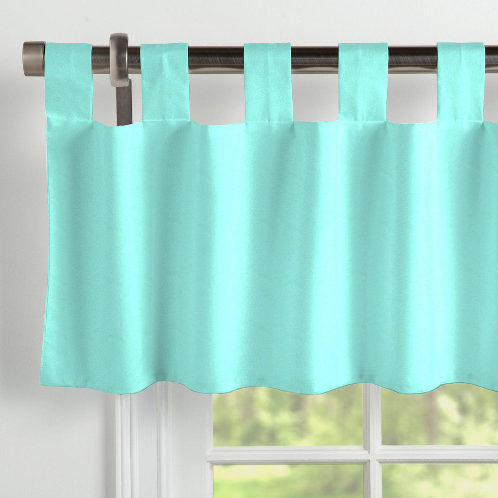 Product image for Solid Teal Window Valance Tab-Top