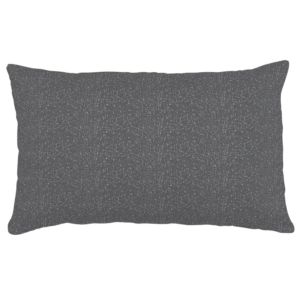 Product image for Dark Gray Heather Lumbar Pillow