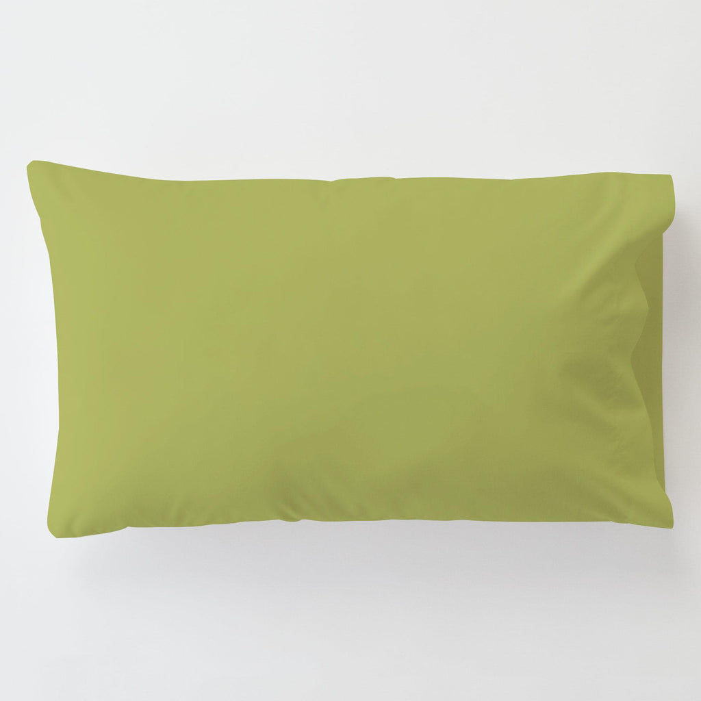 Product image for Solid Citron Toddler Pillow Case with Pillow Insert