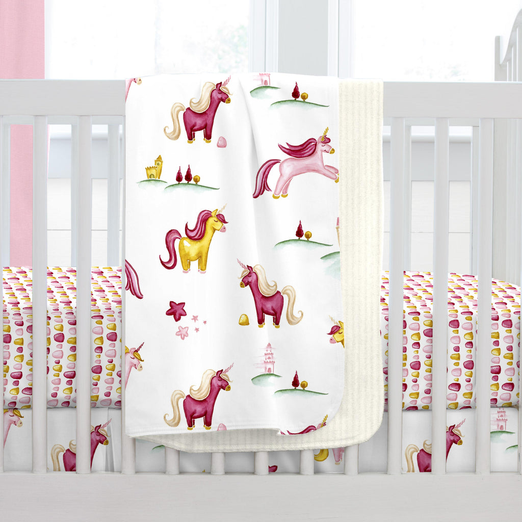 Product image for Painted Unicorns Baby Blanket