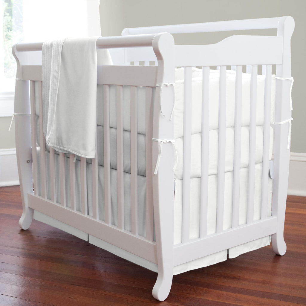 Product image for Solid Antique White Mini Crib Bumper