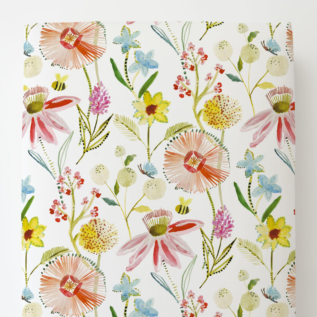 Product image for Watercolor Springtime Toddler Sheet Bottom Fitted