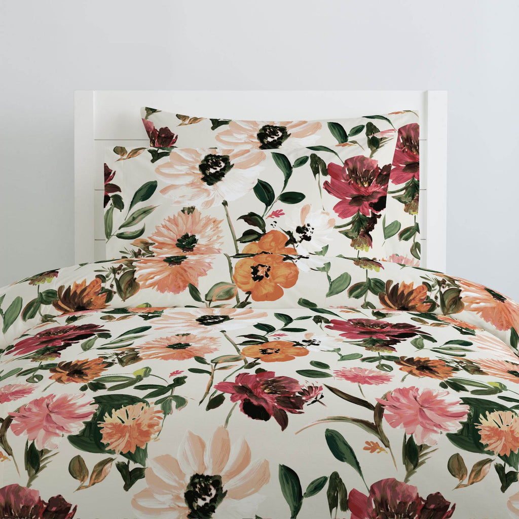Product image for Moody Floral Duvet Cover