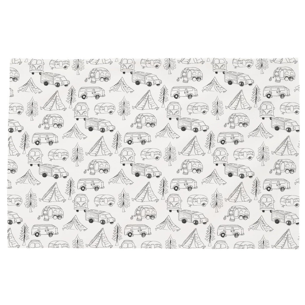 Product image for Slate Little Campers Toddler Pillow Case