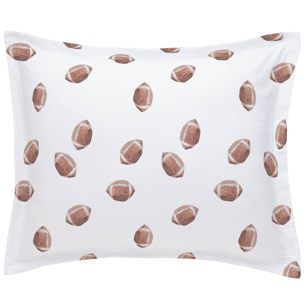 Product image for Watercolor Football Pillow Sham