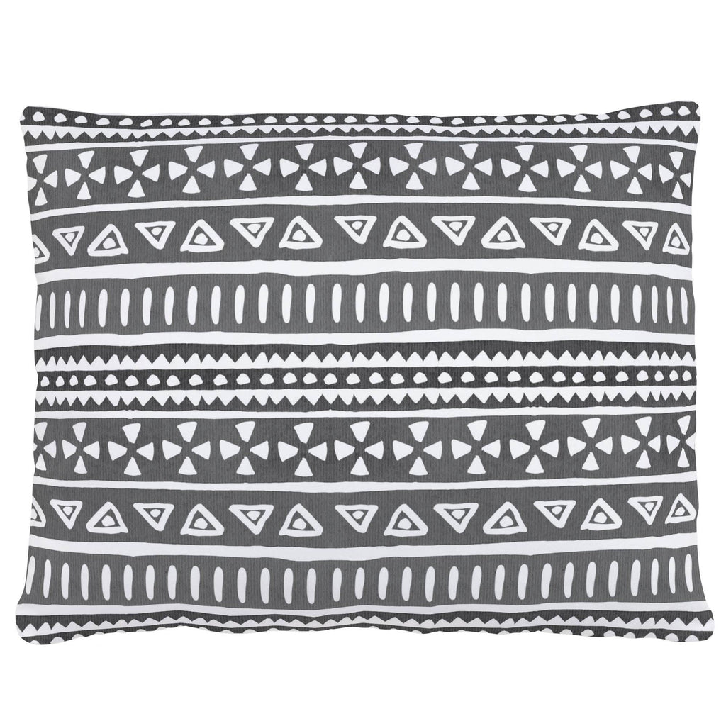 Product image for Gray Watercolor Tribal Accent Pillow