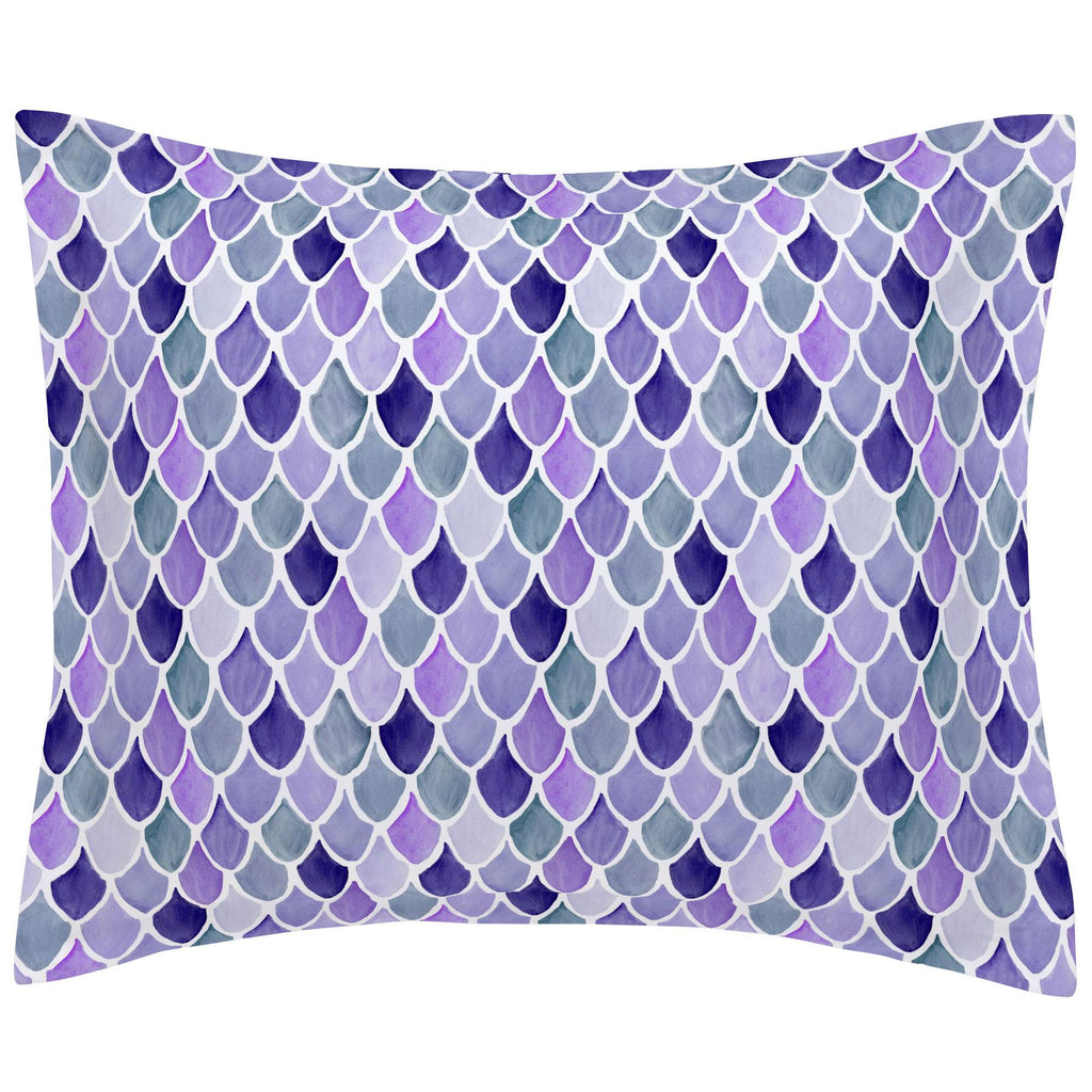 Product image for Lilac Watercolor Scales Pillow Sham