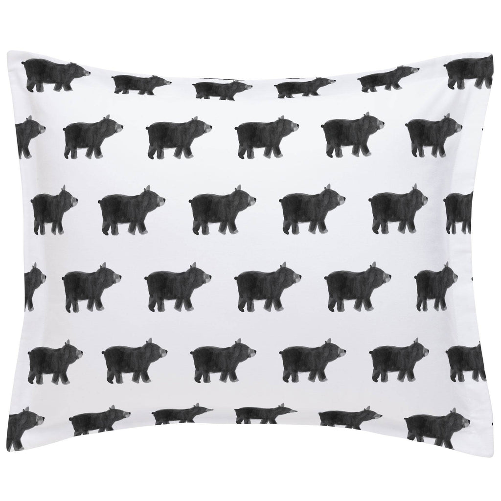 Product image for Gray Painted Bear Pillow Sham