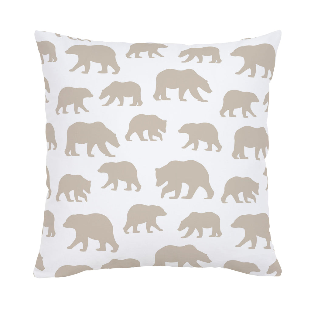 Product image for Taupe Bears Throw Pillow
