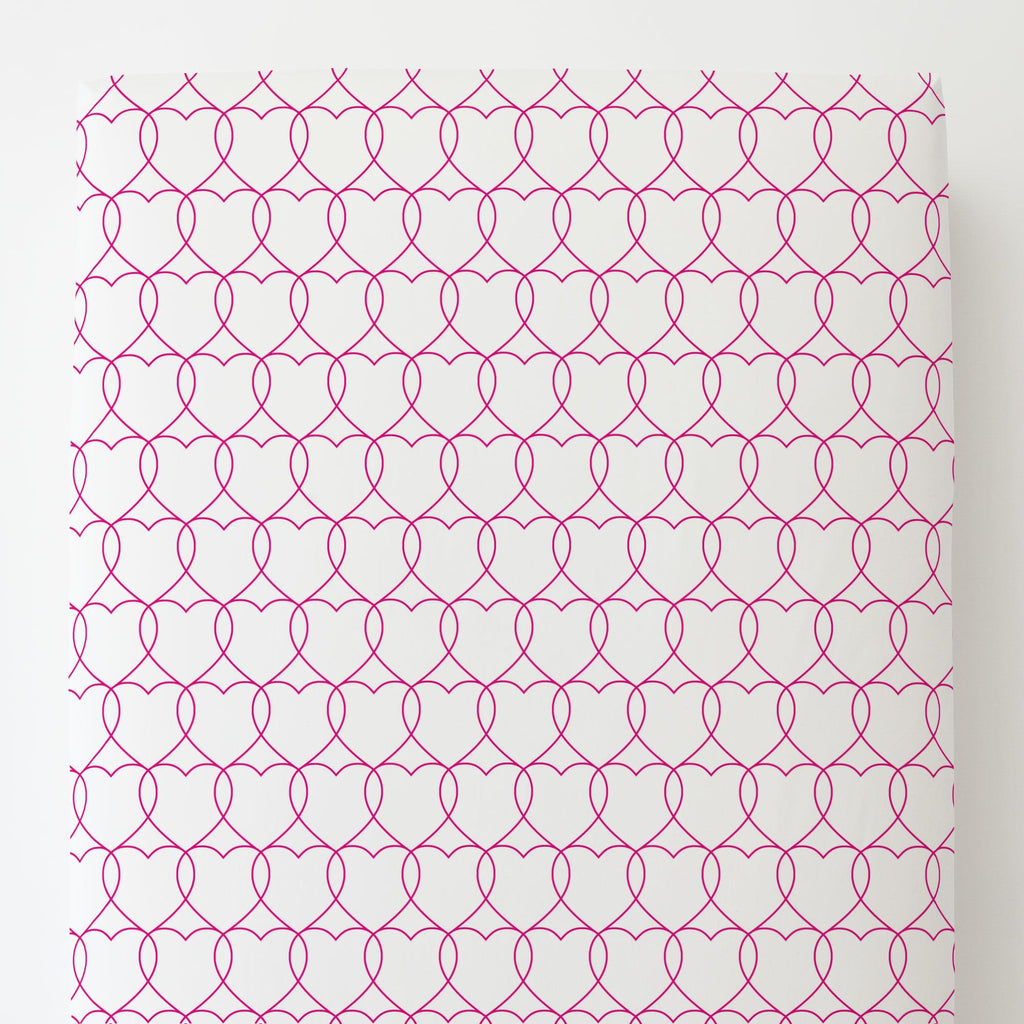 Product image for Fuchsia Sweetheart Toddler Sheet Bottom Fitted