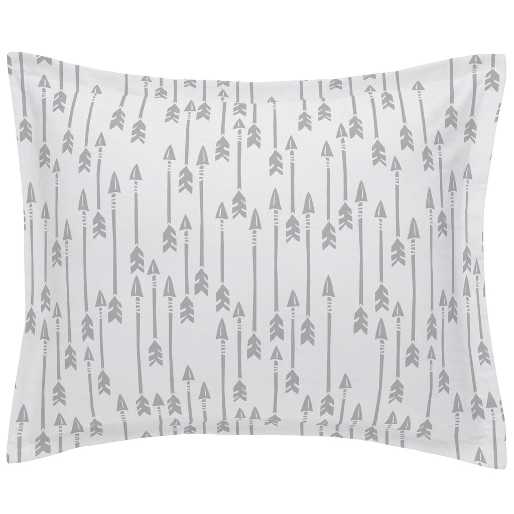 Product image for Silver Gray Flying Arrow Pillow Sham