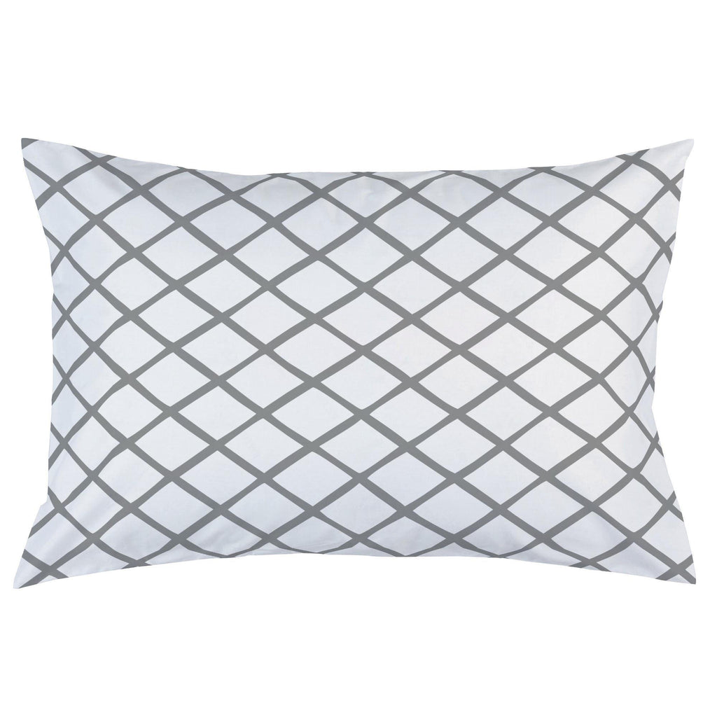 Product image for Cloud Gray Trellis Pillow Case