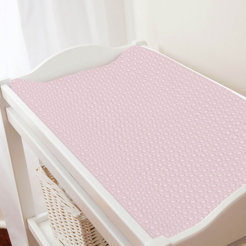 Product image for Pink Dimpled Minky Changing Pad Cover