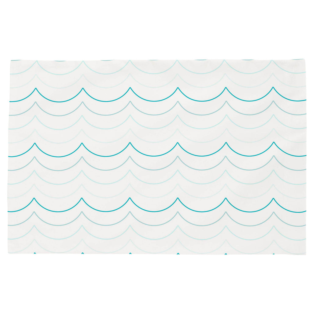 Product image for Teal Wave Stripe Toddler Pillow Case