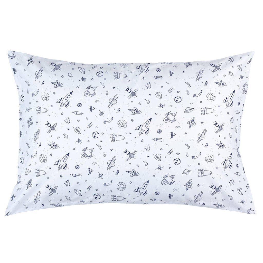 Product image for Windsor Navy and White Rockets Pillow Case