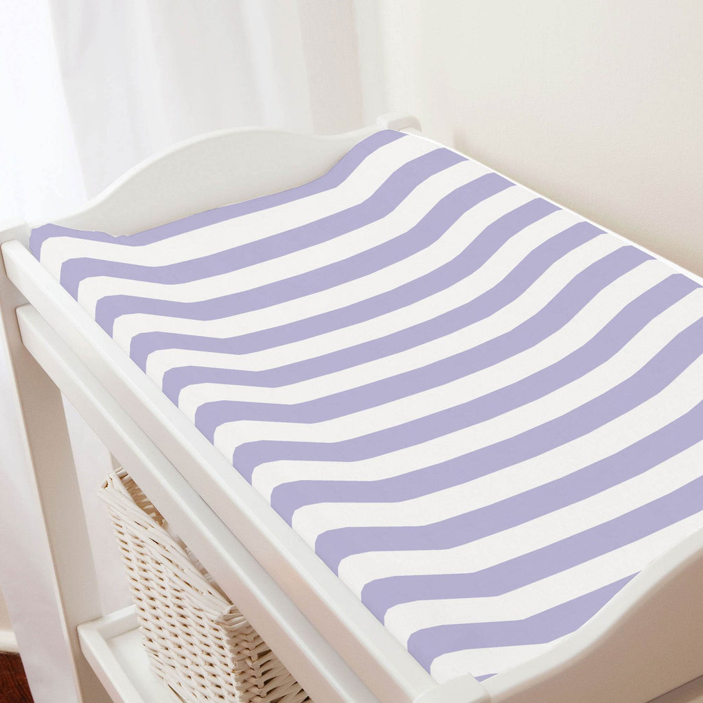 Product image for Lilac Stripe Changing Pad Cover