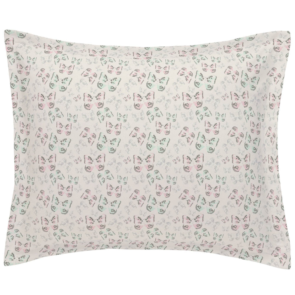 Product image for Blush and Ivory Butterfly Pillow Sham