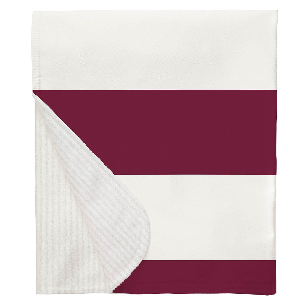 Product image for Maroon Horizontal Stripe Baby Blanket