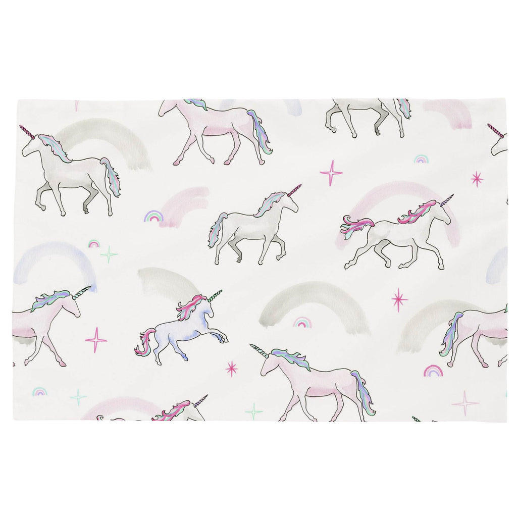 Product image for Watercolor Unicorns Toddler Pillow Case