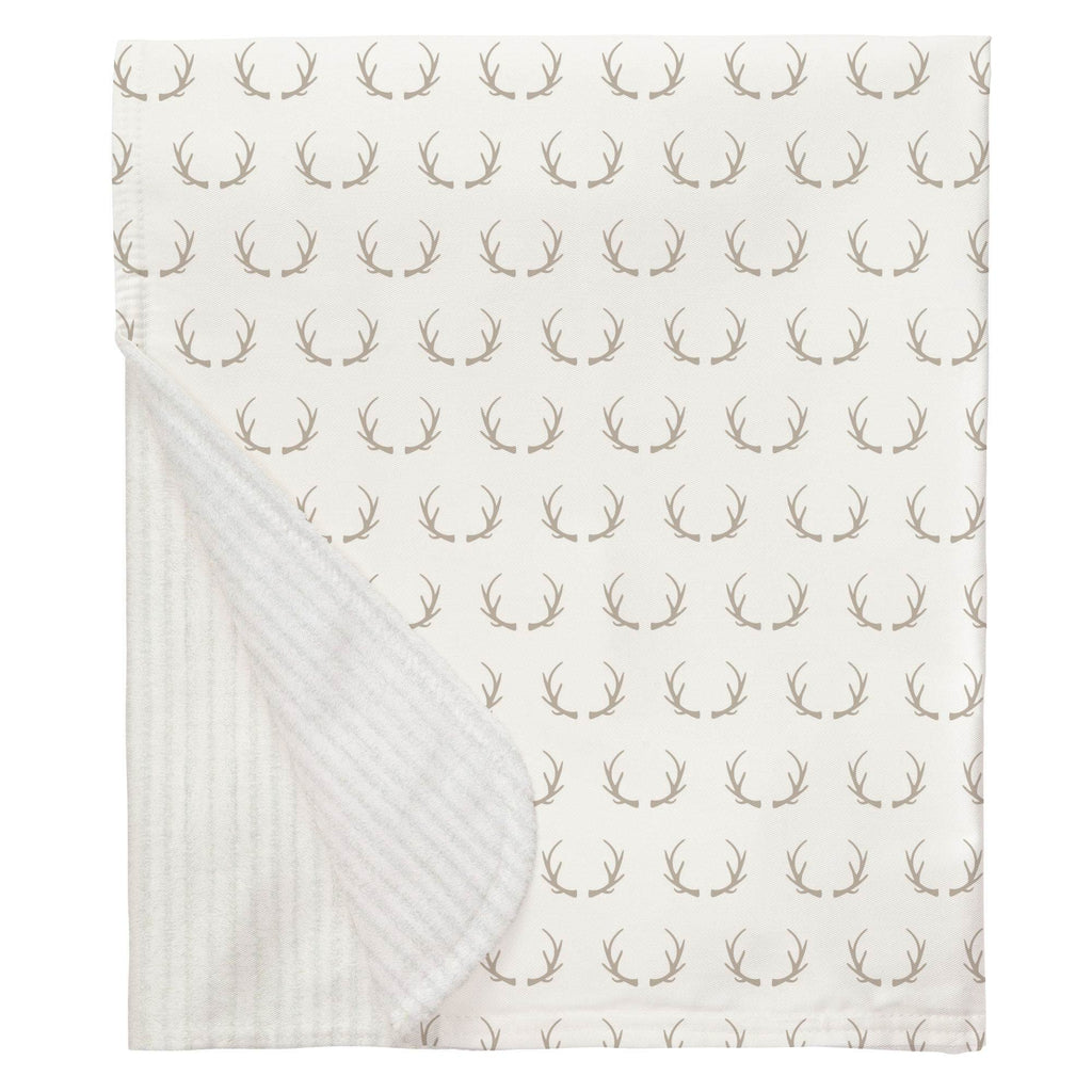 Product image for Taupe Antlers Baby Blanket