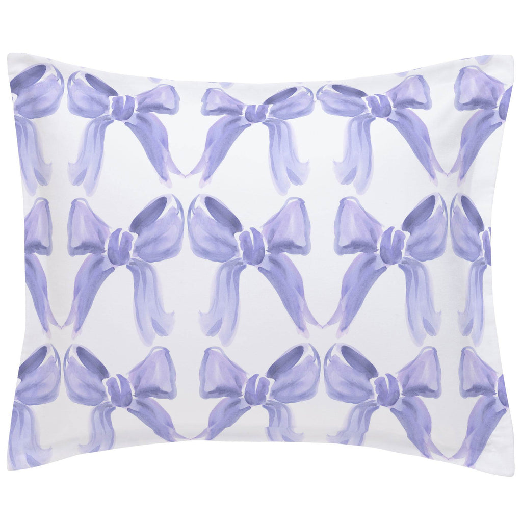 Product image for Lilac Watercolor Bows Pillow Sham