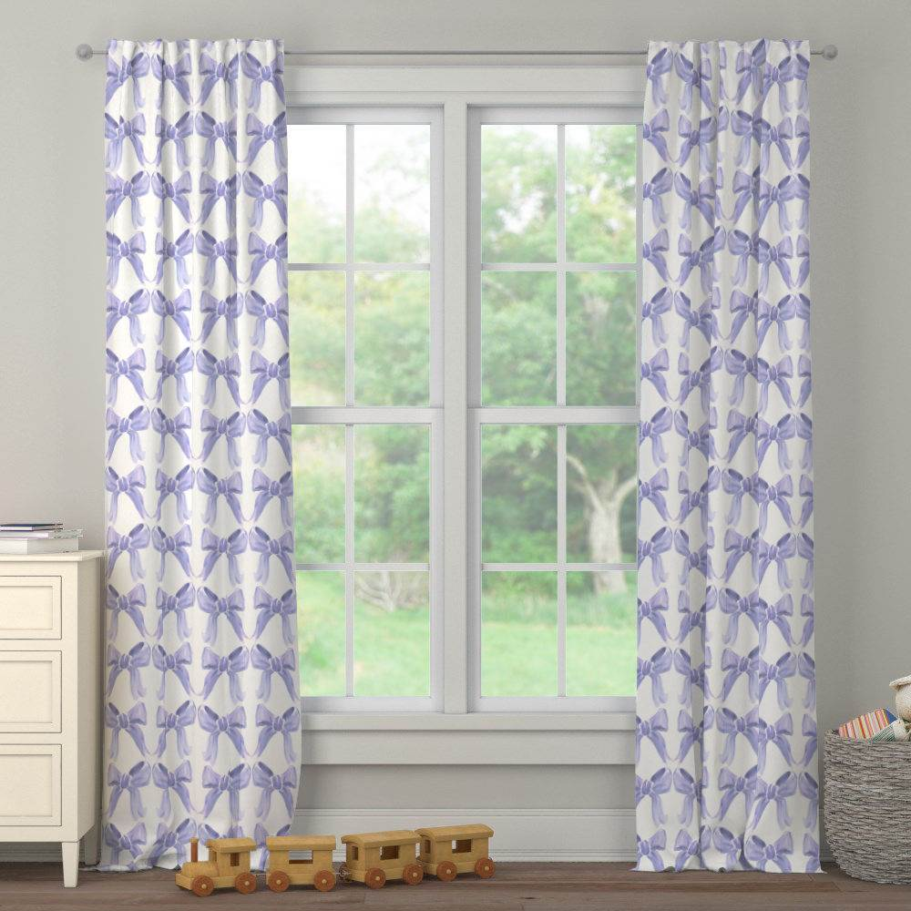 Product image for Lilac Watercolor Bows Drape Panel