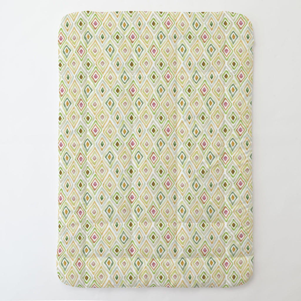 Product image for Green Painted Diamond Toddler Comforter