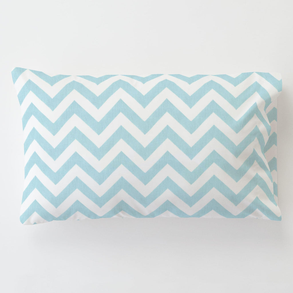 Product image for Mist Zig Zag Toddler Pillow Case with Pillow Insert