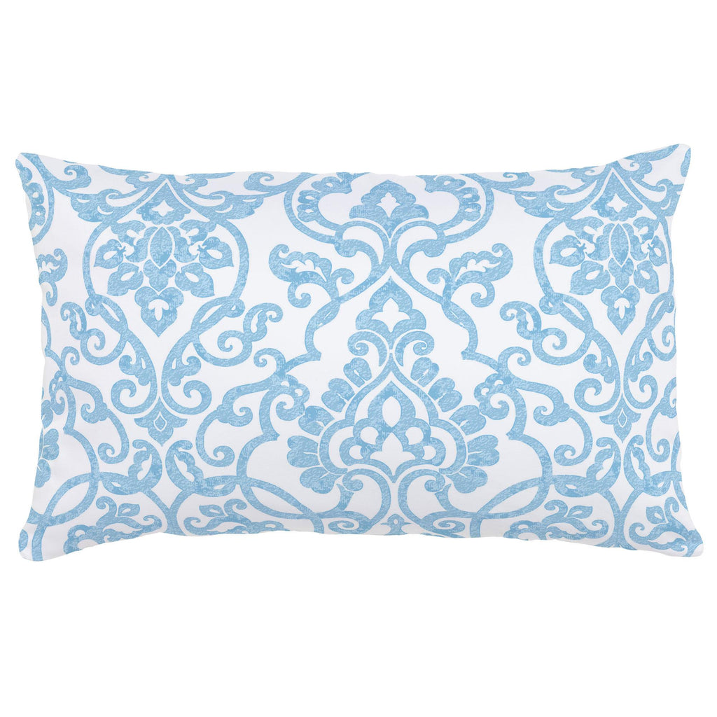 Product image for Blue Filigree Lumbar Pillow