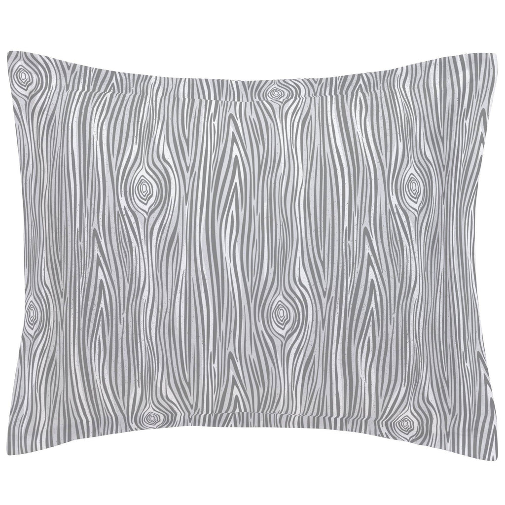 Product image for Gray Woodgrain Pillow Sham