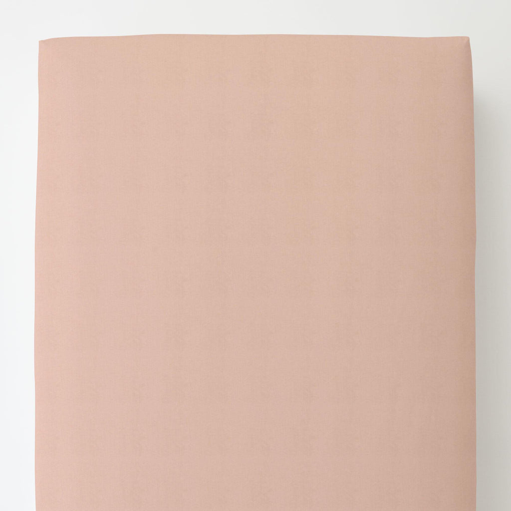 Product image for Solid Peach Toddler Sheet Bottom Fitted
