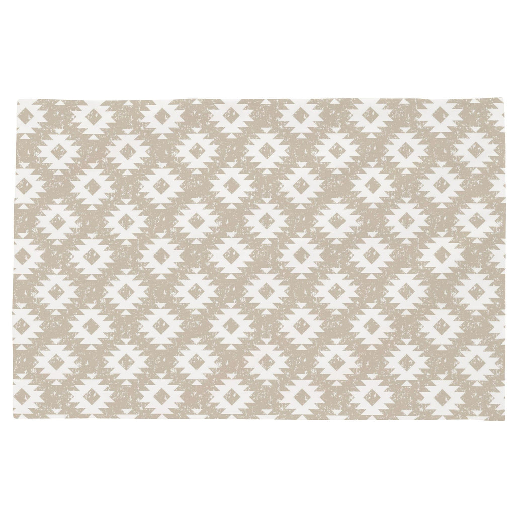 Product image for Taupe and White Aztec Toddler Pillow Case