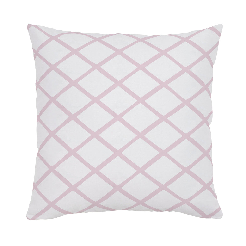 Product image for Pink Trellis Throw Pillow