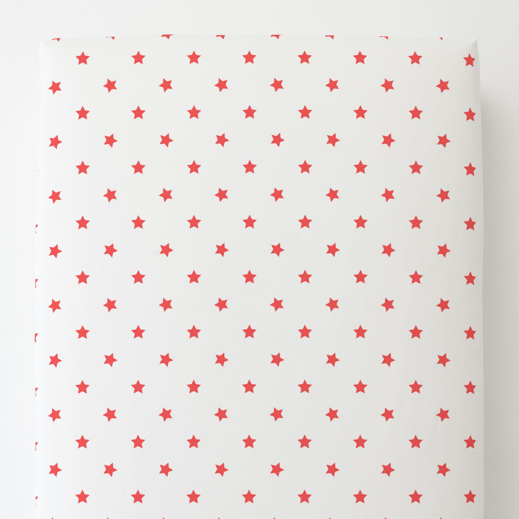 Product image for Coral Stars Toddler Sheet Bottom Fitted