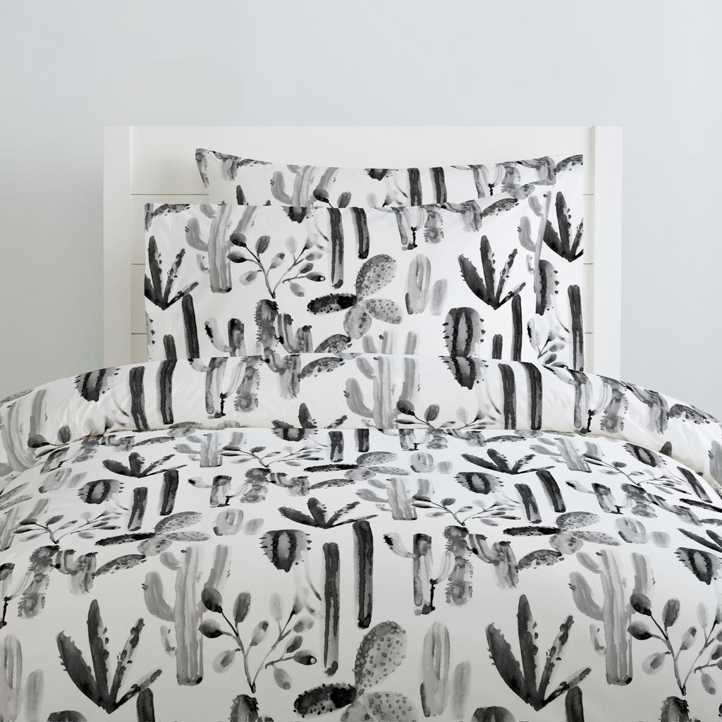 Product image for Charcoal Painted Cactus Duvet Cover