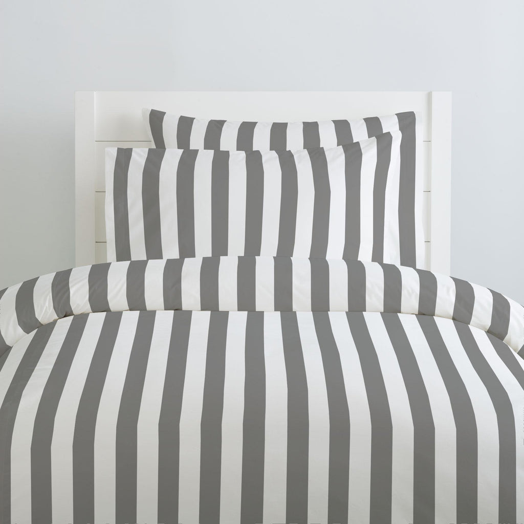 Product image for White and Gray Stripe Duvet Cover