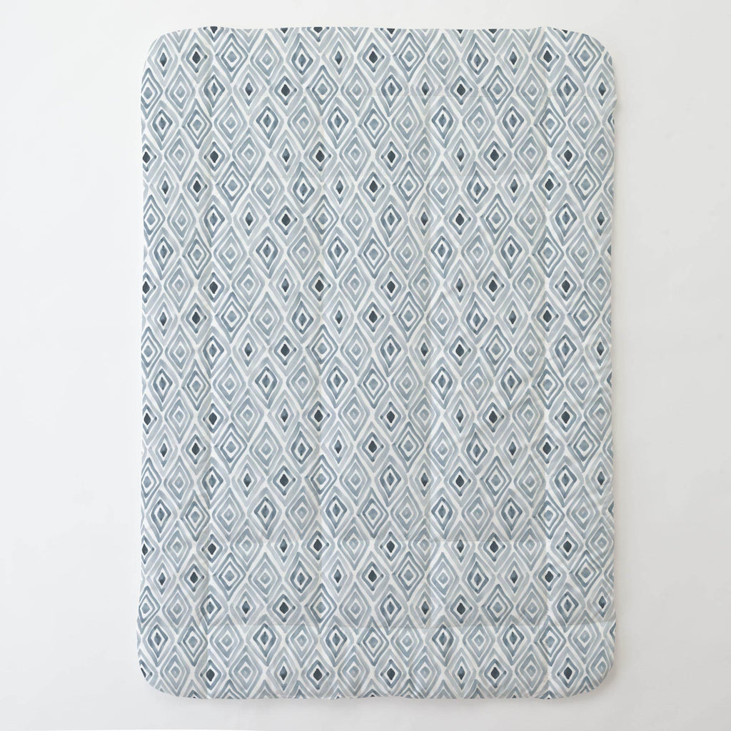 Product image for Steel Blue Painted Diamond Toddler Comforter