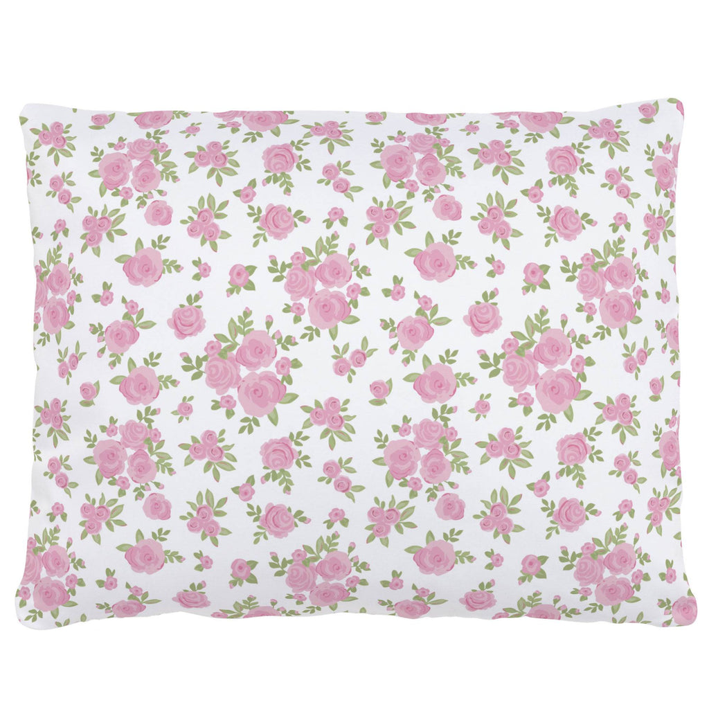 Product image for White and Pink Rosettes Accent Pillow