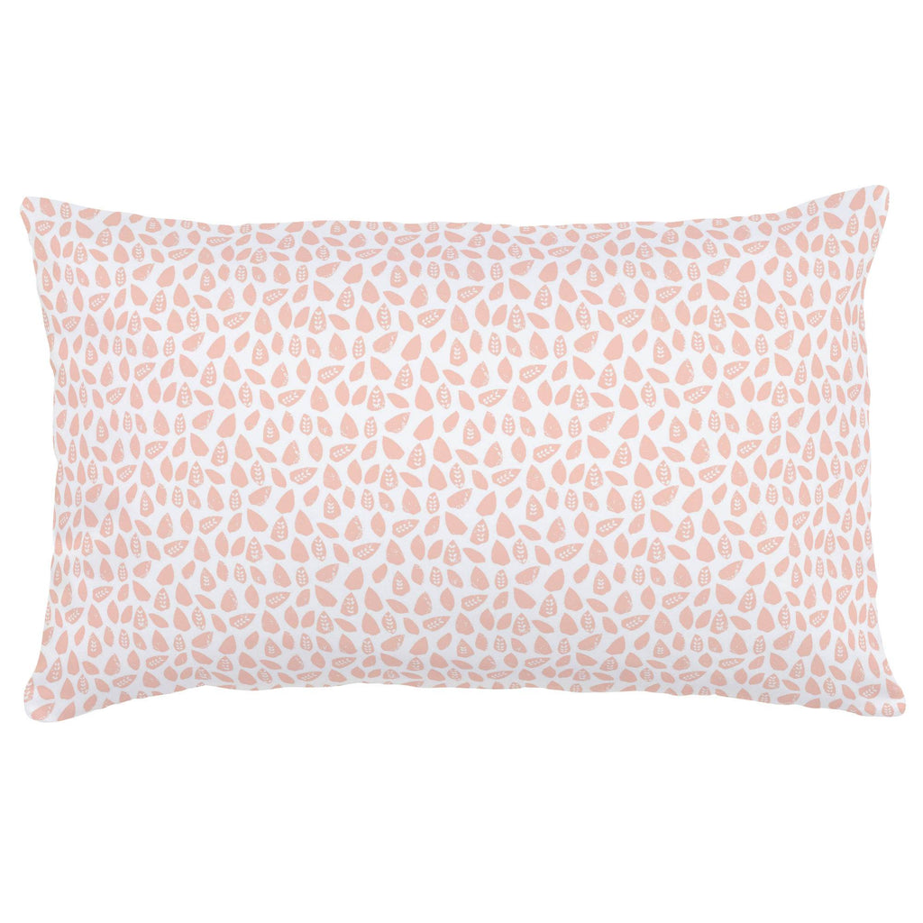 Product image for Peach Woodland Leaf Lumbar Pillow