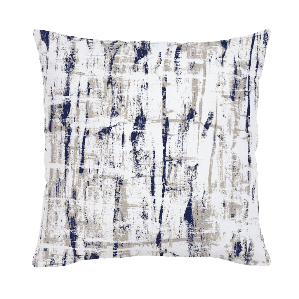 Product image for Navy and Taupe Birch Throw Pillow