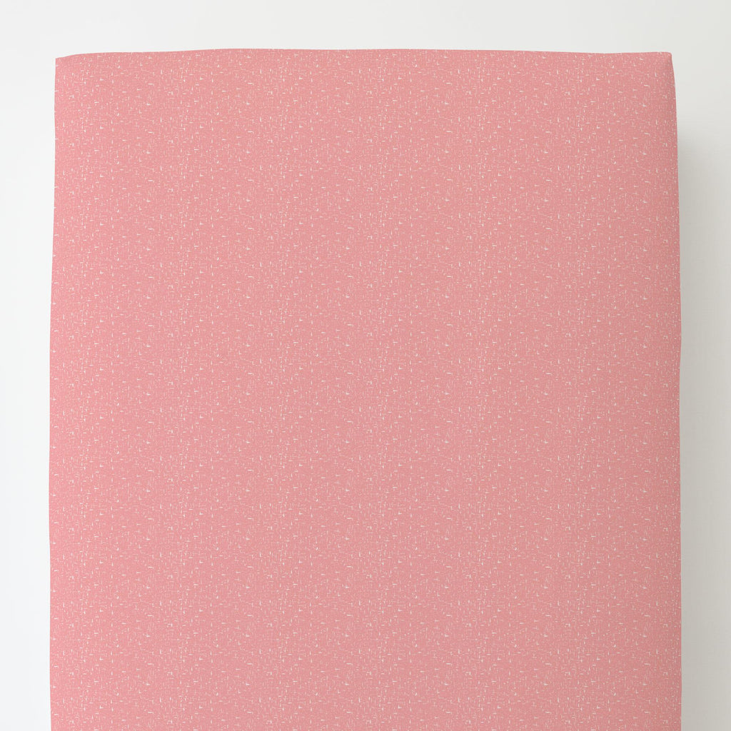 Product image for Coral Pink Heather Toddler Sheet Bottom Fitted