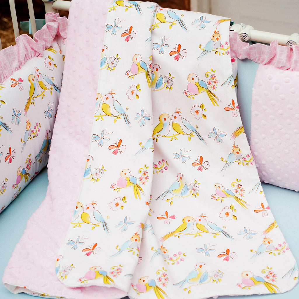 Product image for Love Birds Baby Blanket